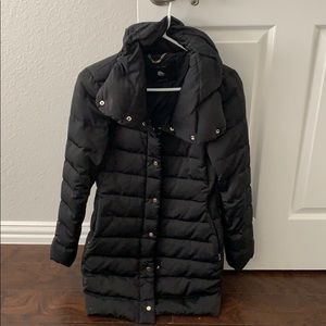 Zara black parka winter jacket
